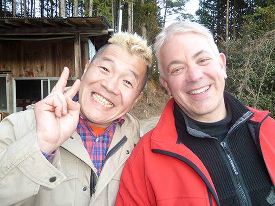 今日はウドちゃん、ウド食べたね! ジョンも改めて日本の里山に感動しました!お腹いっぱい!