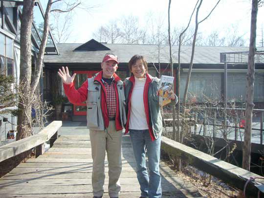 真吾さんの新刊『家族の里山園芸』を メッセージつきで頂きました! さあ、これから僕達八ヶ岳の春を探しに行きますよ~!