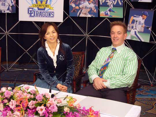 ゲスト出演の伊藤麻衣子さん。 彼女も名古屋の金城学院出身で大のドラゴンズファン!